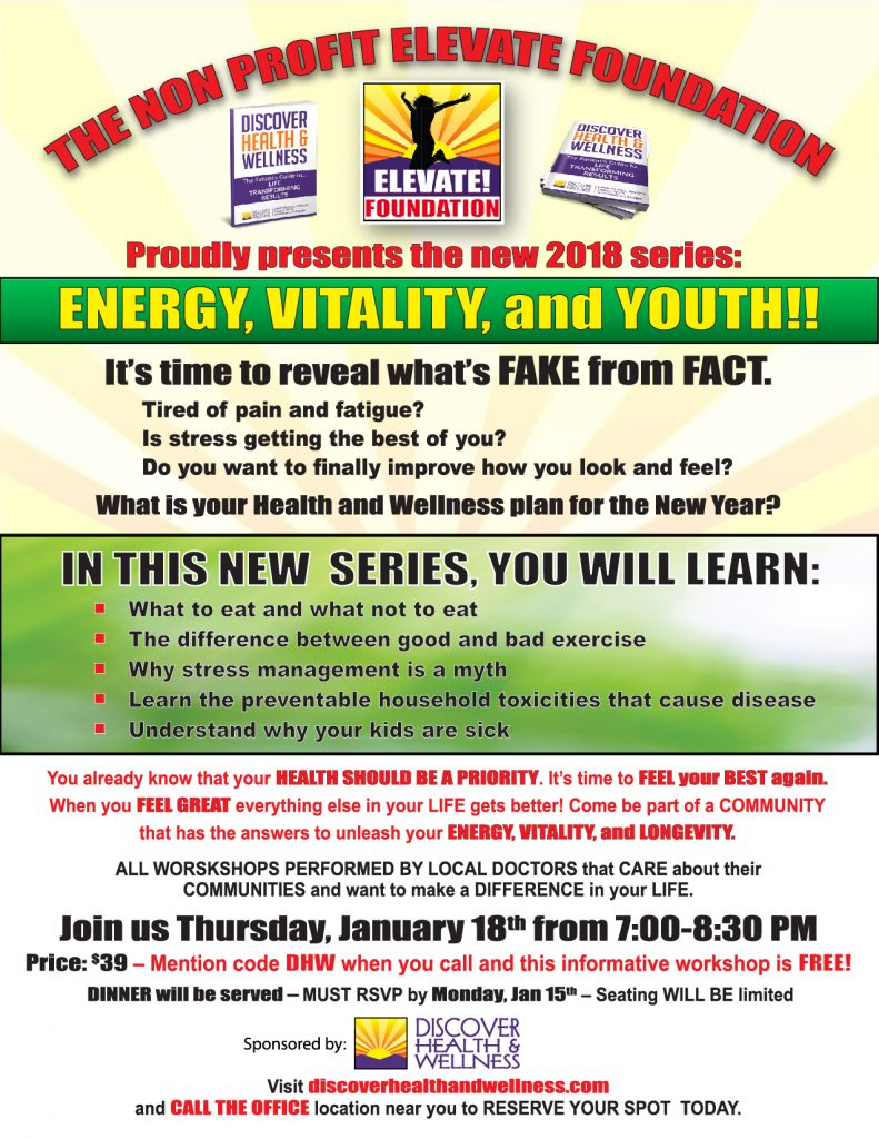 ENERGY, VITALITY, and YOUTH!